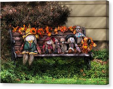 Autumn - Family Reunion Canvas Print by Mike Savad