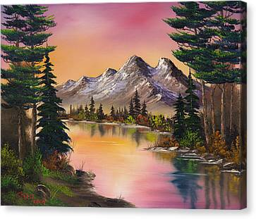 Mountain Fantasy Canvas Print by C Steele