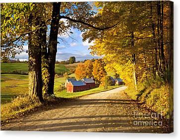 Autumn Farm In Vermont Canvas Print by Brian Jannsen