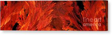 Autumn Fire Abstract Pano 2 Canvas Print by Andee Design