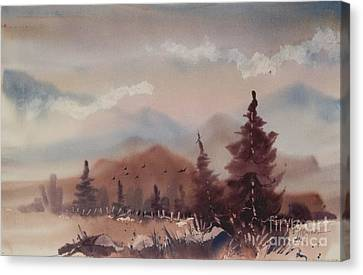 Autumn Fog Canvas Print by Micheal Jones