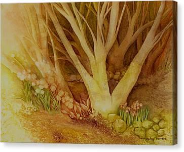 Autumn Forest Canvas Print by Hailey E Herrera