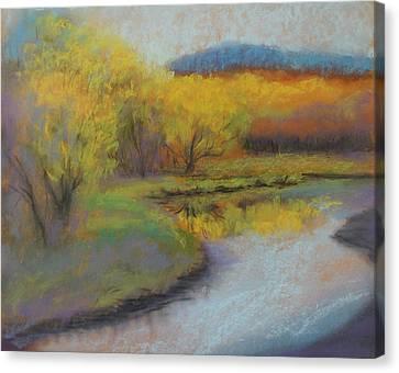 Autumn Glow At Catfish Corner Canvas Print by Sherri Anderson