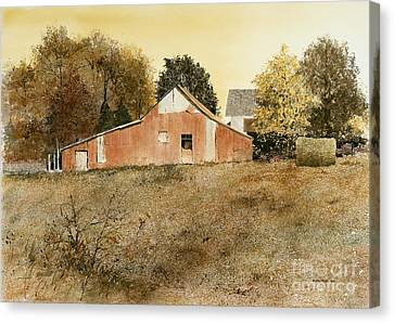Autumn Glow Canvas Print by Monte Toon