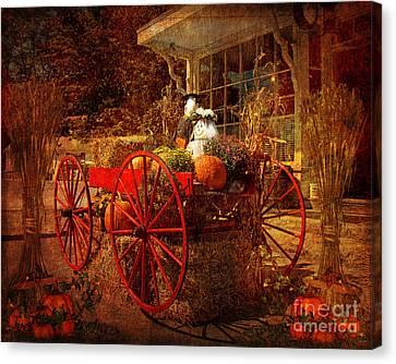 Autumn Harvest At Brewster General Canvas Print by Lianne Schneider