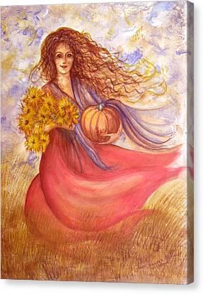 Autumn Harvest Canvas Print by Sheri Lauren Schmidt