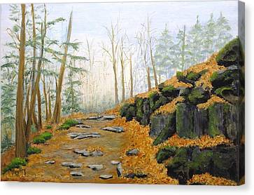Autumn Hike Canvas Print by Peggy King