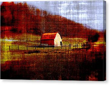 Autumn Homestead Canvas Print by Chastity Hoff