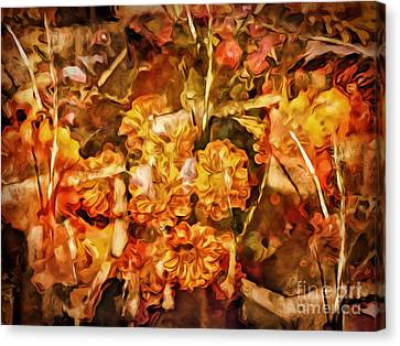 Autumn Impression Abstract Canvas Print by Lutz Baar