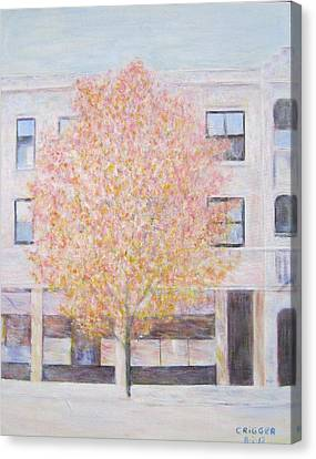 Autumn In Chicago Canvas Print by Glenda Crigger