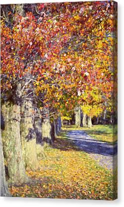 Autumn In Hyde Park Canvas Print by Joan Carroll