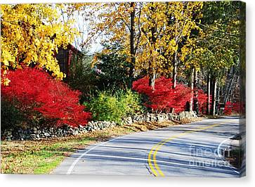 Autumn In New England 1 Canvas Print by Marcus Dagan
