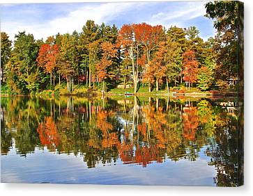 Autumn In Ohio Canvas Print by Frozen in Time Fine Art Photography