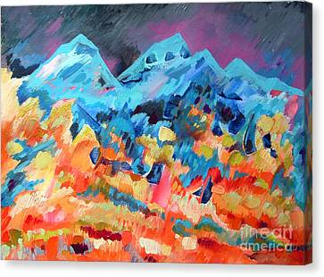 Autumn In Our Mountains Canvas Print by Viskan