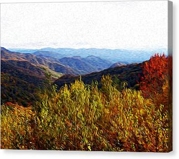 Autumn In The Smokey Mountains Canvas Print by Phil Perkins