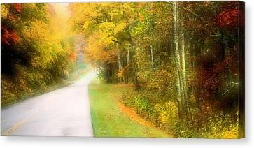 Autumn In Virginia Canvas Print by Katie Wing Vigil