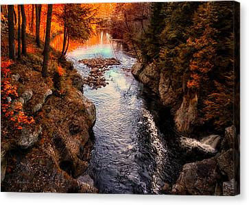 Autumn In West Paris Canvas Print by Bob Orsillo