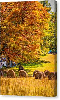 Autumn In West Virginia - Paint Canvas Print by Steve Harrington