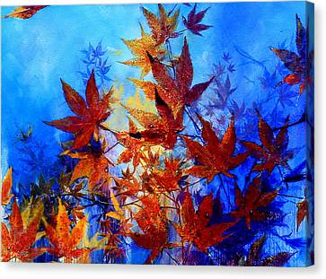 Autumn Joy Canvas Print by Hanne Lore Koehler