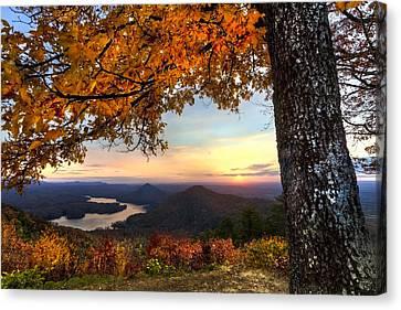 Autumn Lake Canvas Print by Debra and Dave Vanderlaan