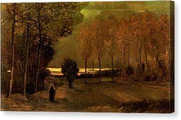 Autumn Landscape At Dusk 1885 Canvas Print by Vincent Van Gogh