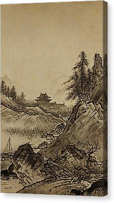 Autumn Landscape Sesshu Toyo 1496 Canvas Print by Movie Poster Prints