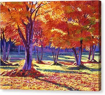 Autumn Leaves Canvas Print by David Lloyd Glover