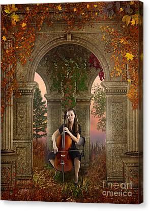 Autumn Melody Canvas Print by Bedros Awak