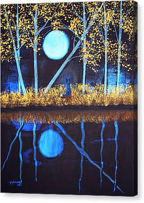 Autumn Moon Canvas Print by Todd Young