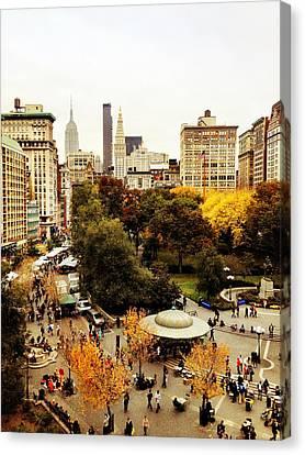 Autumn - New York Canvas Print by Vivienne Gucwa