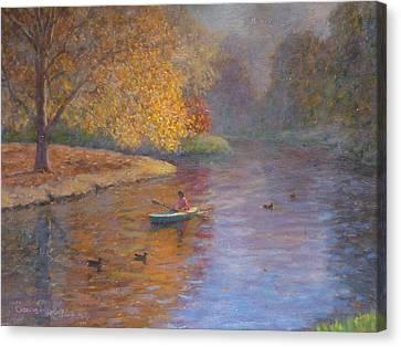 Autumn On Avon Nz. Canvas Print by Terry Perham