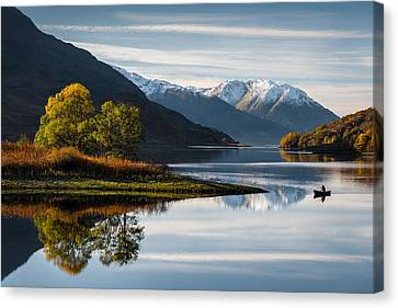 Autumn On Loch Leven Canvas Print by Dave Bowman