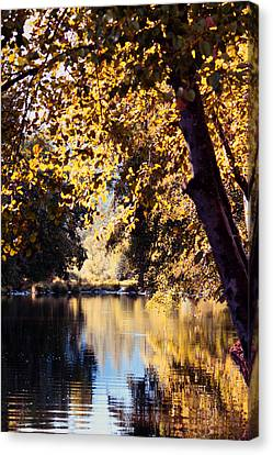 Autumn On The Applegate Canvas Print by Melanie Lankford Photography