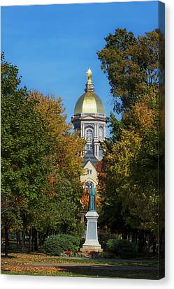 Autumn On The Campus Of Notre Dame Canvas Print by Mountain Dreams