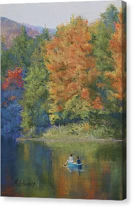 Autumn On The Lake Canvas Print by Marna Edwards Flavell