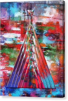 Autumn On The Plains Abstract Tee Pee Canvas Print by Thomas Woolworth