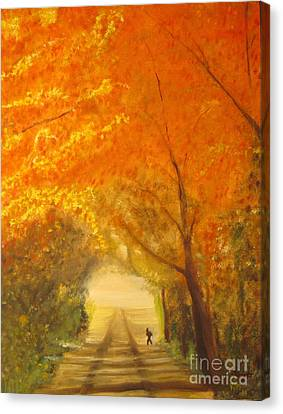 Autumn - Original Oil Painting  Canvas Print by Anthony Morretta