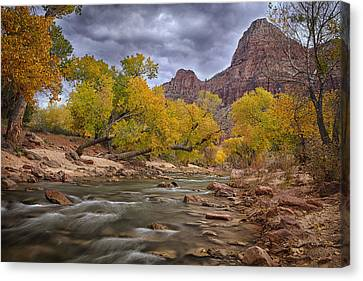 Autumn Over Zion Canvas Print by Andrew Soundarajan