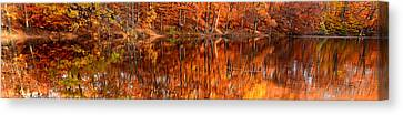 Autumn Paradise Canvas Print by Lourry Legarde