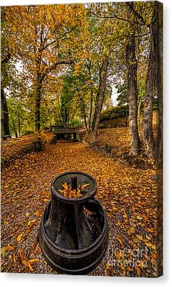 Autumn Park Canvas Print by Adrian Evans