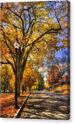Autumn Path - Boston Public Garden Canvas Print by Joann Vitali