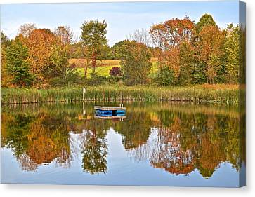 Autumn Pond Canvas Print by Frozen in Time Fine Art Photography