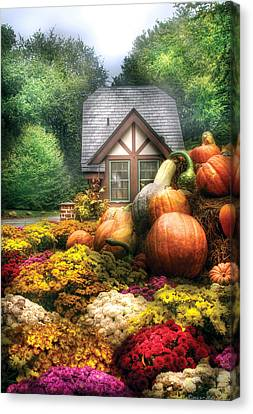 Autumn - Pumpkin - This Years Harvest Was Awesome  Canvas Print by Mike Savad