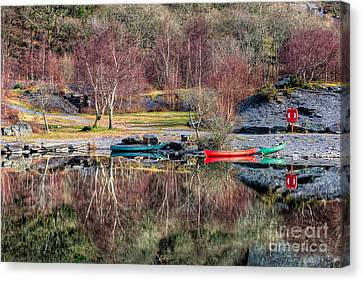 Autumn Reflections Canvas Print by Adrian Evans