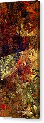 Autumn Road Canvas Print by Andee Design