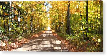 Autumn Road Mosaic Canvas Print by Dan Sproul