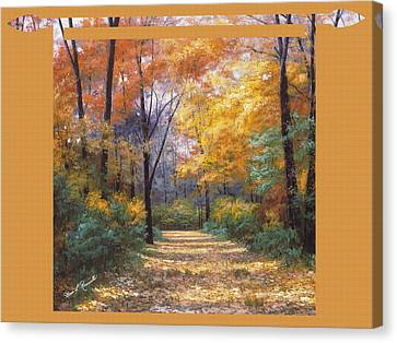 Autumn Road Tapestry Look Canvas Print by Diane Romanello