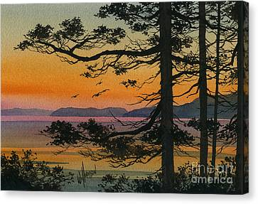 Autumn Shore Canvas Print by James Williamson