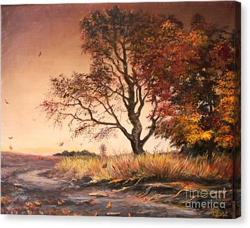 Autumn Simphony In France  Canvas Print by Sorin Apostolescu