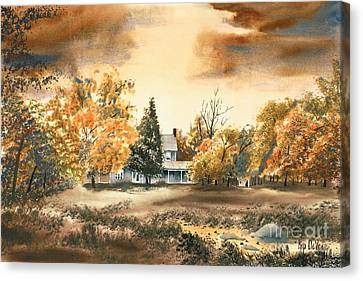 Autumn Sky No W103 Canvas Print by Kip DeVore